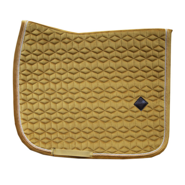 kentucky-saddle-pad-velvet-dressage-mustard