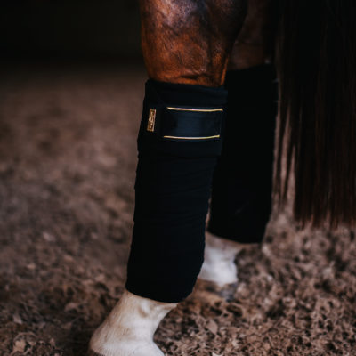 equestrian-stockholm-fleece-bandage-black-gold