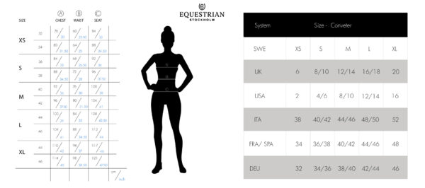 Equestrian-Stockholm-Garment-Sizeguide