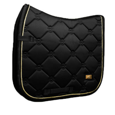equestrian-stockholm-dressage-saddle-pad-black-gold-cob