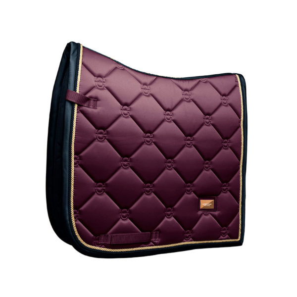 equestrian-stockholm-dressage-saddle-pad-purple-gold
