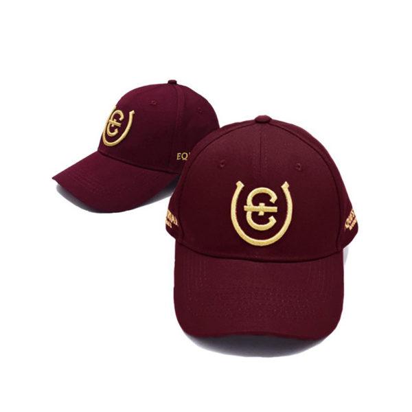 es-cotton-cap-bordeaux-gold