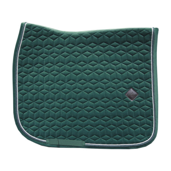 kentucky-saddle-pad-velvet-dressage-dark-green