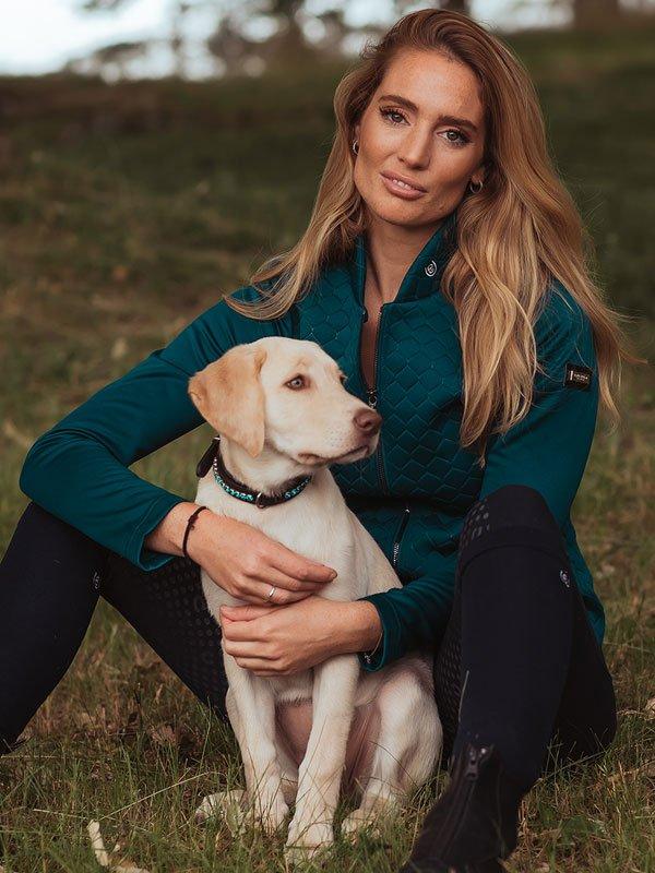 equestrian-stockholm-dog-collar-emerald